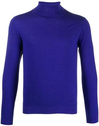 Laneus fine knit roll neck jumper