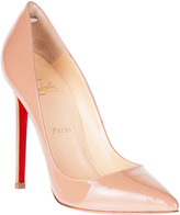 Christian Louboutin Pigalle 120 patent nude pump