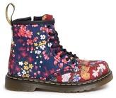 Dr. Martens 'Brooklee FC' floral print canvas toddler boots