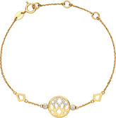 Links of London Timeless Gold 18ct yellow-gold and diamond bracelet