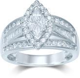JCPenney MODERN BRIDE 1 CT. T.W. Trillion-Cut Diamond 14K White Gold Ring