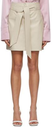 Nanushka Beige Vegan Leather Meda Skirt