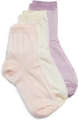 Nordstrom Favorite 3-Pack Ankle Socks