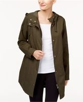Style and Co Petite Rainy Day Hooded Utility Jacket, Created for Macy's