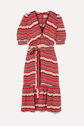 Cefinn - Ruffled Printed Crepe Dress - Red