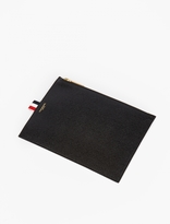 Thom Browne Black Large Leather Coin Wallet
