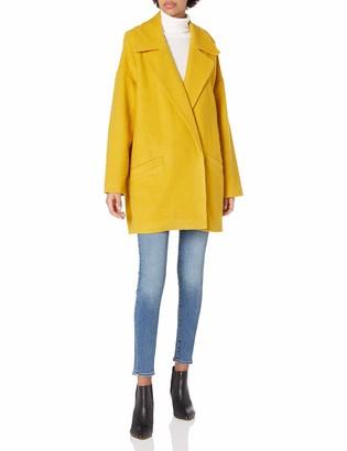 Halston Women's Long Sleeve Oversized Coat