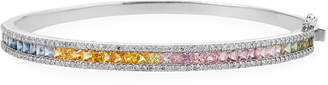 Siena Jewelry 14k Rainbow Sapphire & Diamond Bangle