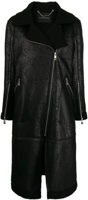 John Richmond straight fit zipped coat
