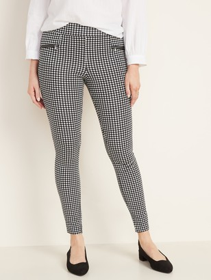Old Navy High-Waisted Stevie Houndstooth Zip-Pocket Pants For Women