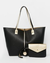 Dune Reversible Metallic Shopper Bag