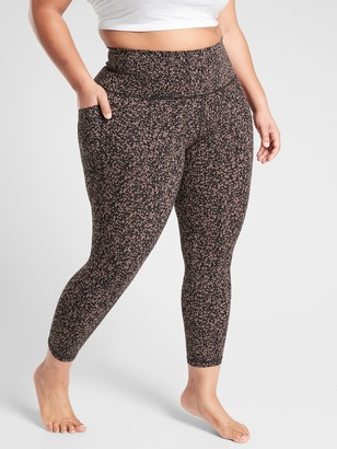 Athleta Salutation Stash Pocket Ii Gravel 7/8 Tight