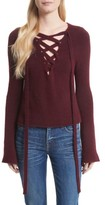 L'Agence Women's Candela Lace-Up Sweater