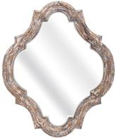 Home Decorators Collection Stark 27 in. x 22.25 in. Framed Mirror in White Wash