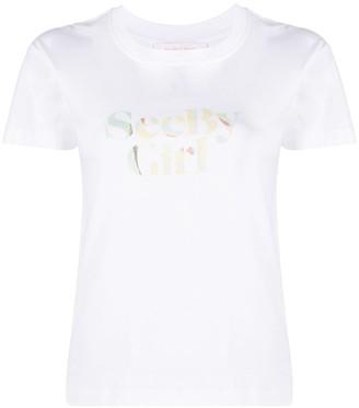See by Chloe Pre-Owned Slogan-Print Short-Sleeved T-Shirt