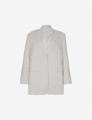 Frankie Shop Oversized single-breasted stretch-woven blazer