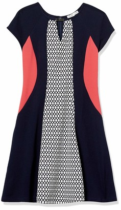 Sandra Darren Women's 1 PC Sleeveless Printed Scuba Crepe Fit & Flare Dress