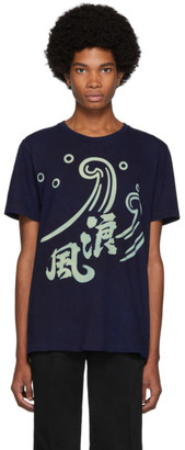 Blue Blue Japan Indigo Okura Dyed Namizake T-Shirt