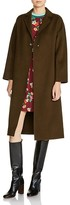 Maje Galib Single-Button Belted Coat
