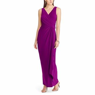 Chaps Women's Sleeveless Shirred Matte Jersey Gown