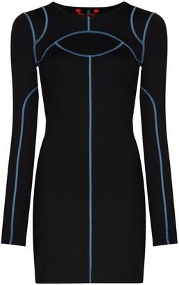Eckhaus Latta Atomic Sport long-sleeve mini dress