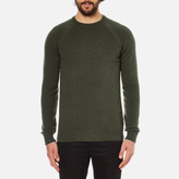 Barbour Heritage Staple Crew Knitted Jumper Olive