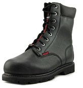 "Wolverine Fortitude 8"" Men W Round Toe Leather Black Work Boot."