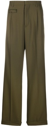 Marni High-Rise Wide-Leg Trousers