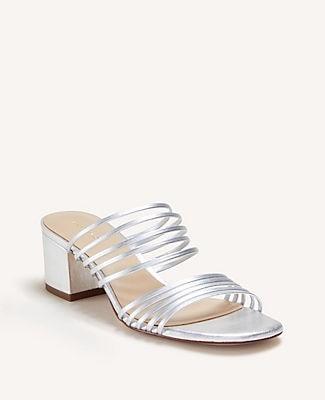 Ann Taylor Adalina Leather Block Heel Sandals