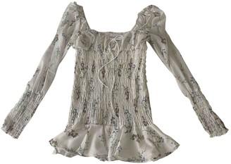 For Love & Lemons White Polyester Dresses