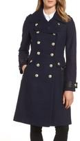 GUESS Women's Wool Blend Military Coat