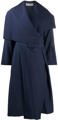Issey Miyake Draped Asymmetric Coat