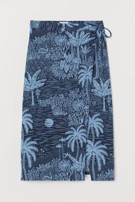 H&M Linen-blend Wrap Skirt