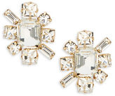 RJ Graziano Faceted Crystal Starburst Stud Earrings