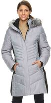 ZeroXposur Women's Black Label Faux-Fur Hooded Quilted Puffer Jacket