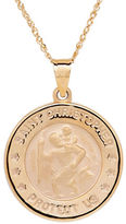 Lord & Taylor 14K Yellow-Gold Christopher Medallion Pendant Necklace