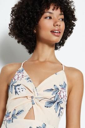 Coast Tie Neck Printed Maxi Dress