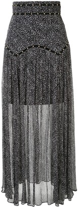 Thurley Coco animal-print maxi skirt