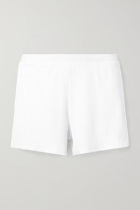 Skin Indigo Ribbed Stretch-pima Cotton Jersey Shorts - White