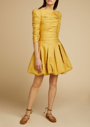 KHAITE The Minnie Dress in Dijon