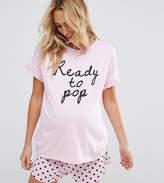 Asos Ready To Pop Tee & Short Pyjama Set