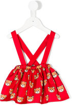 Moschino Kids teddy bear print skirt with underwear