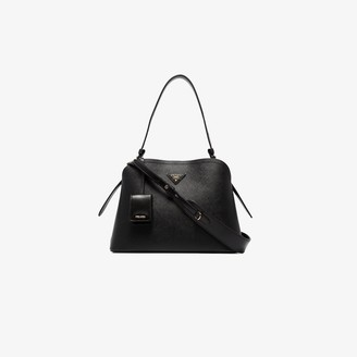 Prada black Matinee saffiano leather tote bag