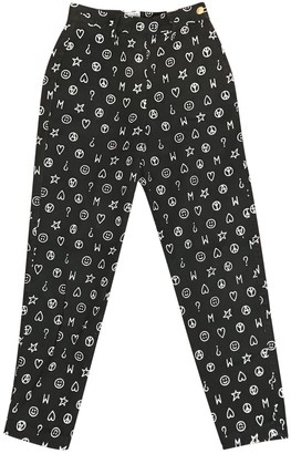 Moschino Love Black Cotton Trousers for Women Vintage