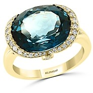 Bloomingdale's London Blue Topaz & Diamond Ring in 14K Yellow Gold - 100% Exclusive
