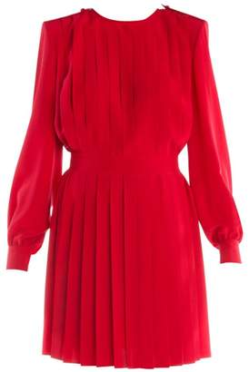 Fendi Pleated Crepe De Chine Dress