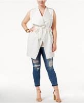 WHITESPACE Trendy Plus Size Belted Vest