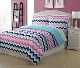 Disney Twin Microfiber Kids Chevron Bedding Comforter Set
