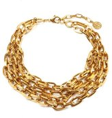 Ben-Amun Twisted Gold Chain Link Necklace