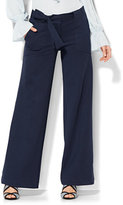 New York & Co. 7th Avenue Design Studio - Tie-Front Wide-Leg Pant - Ponte